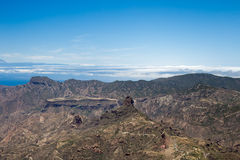 Paisagem de Gran Canaria Roque Nublo fotografia de stock royalty free