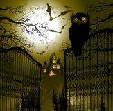 Paisagem de Halloween Fotos de Stock