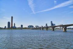 Paisagem de Han River em Seoul Imagens de Stock Royalty Free