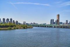 Paisagem de Han River em Seoul Fotos de Stock