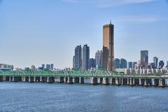 Paisagem de Han River em Seoul Imagem de Stock Royalty Free