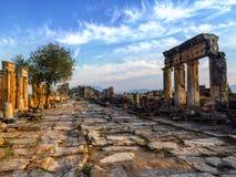 Paisagem de Hierapolis Pamukkale, Turquia imagens de stock royalty free