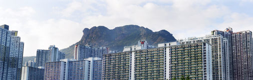 Paisagem de Hong Kong Housing imagens de stock