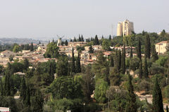 Paisagem de Jerusalem moderno Fotografia de Stock