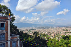 Paisagem de Kathmandu, Nepal Foto de Stock Royalty Free