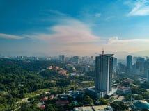 Paisagem de Kuala Lumpur City em Malásia Imagens de Stock Royalty Free