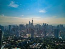 Paisagem de Kuala Lumpur City em Malásia Fotografia de Stock Royalty Free