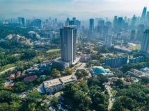 Paisagem de Kuala Lumpur City em Malásia Foto de Stock Royalty Free