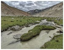 Paisagem de Ladakh imagens de stock