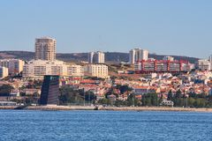 Paisagem de Lisboa, Portugal. Imagem de Stock