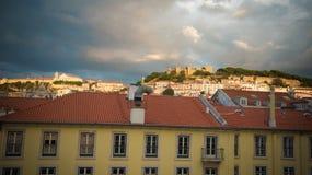 Paisagem de Lisboa, Portugal imagem de stock