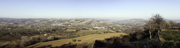 Paisagem de Marche, Italy Fotos de Stock Royalty Free