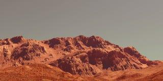 A paisagem de Marte, 3d rende Imagem de Stock