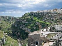 Paisagem de Matera. Basilicata. Fotos de Stock Royalty Free