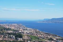 Paisagem de Messina Fotos de Stock Royalty Free