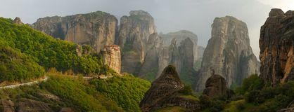 Paisagem de Meteora, Grécia Imagens de Stock Royalty Free