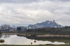 Paisagem de Monforte de Lemos, Galiza, Espanha fotografia de stock