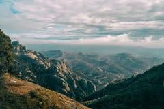 Paisagem de montanhas de catalonia fotografia de stock