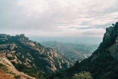 Paisagem de montanhas de catalonia foto de stock royalty free