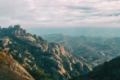 Paisagem de montanhas de catalonia fotos de stock
