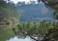 Paisagem de montanhas de Dalat em Vietname Fotografia de Stock