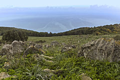 Paisagem de Monte Pellegrino Fotografia de Stock Royalty Free