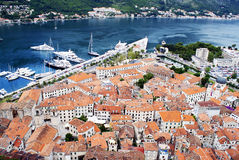 Paisagem de Montenegro, Kotor foto de stock