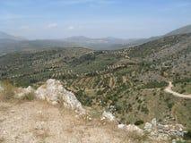 Paisagem de Mycenae, Grécia Fotografia de Stock
