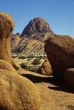 Paisagem de Namíbia Spitzkoppe Fotografia de Stock Royalty Free