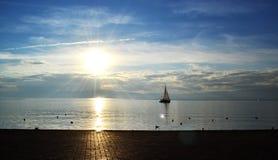 Paisagem de Ohrid imagens de stock