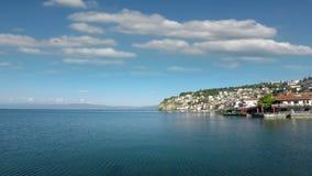 Paisagem de Ohrid Macedônia do lago filme