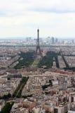 Paisagem de Paris com torre Eiffel Fotos de Stock