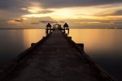 Paisagem de ponte arborizada Imagem de Stock Royalty Free