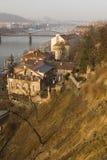 Paisagem de Praga no por do sol Imagem de Stock Royalty Free