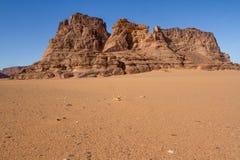 Paisagem de Sahara's Tassili N'Ajjer, Argélia sul Fotos de Stock Royalty Free