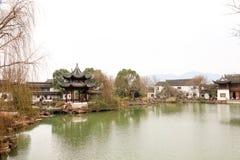 Paisagem de Salt Lake City da montanha do pulverizador de Jiangsu Jintan Imagens de Stock Royalty Free