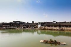 Paisagem de Salt Lake City da montanha do pulverizador de Jiangsu Jintan Imagens de Stock