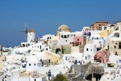 Paisagem de Santorini Fotos de Stock Royalty Free