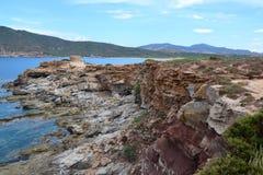 Paisagem de Sardinia, Itália Imagens de Stock