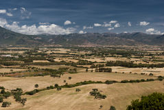 Paisagem de Sardinia. Planície de Cixerri Fotografia de Stock