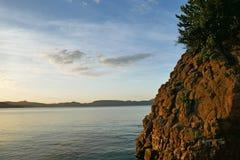 Paisagem de Seto Inland Sea cedo em uma manhã fotografia de stock royalty free
