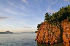 Paisagem de Seto Inland Sea no verão imagem de stock royalty free