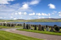 Paisagem de Shetland com cemetery2 Fotos de Stock Royalty Free