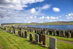 Paisagem de Shetland com cemetery3 Imagens de Stock Royalty Free