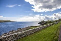 Paisagem de Shetland com cemetery2 Imagem de Stock Royalty Free