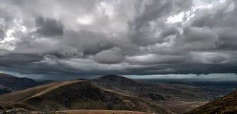 Paisagem de Snowdonia antes da tempestade Fotos de Stock