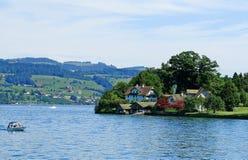 A paisagem de Suíça Foto de Stock