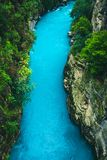 Paisagem de surpresa do rio da garganta de Koprulu em Manavgat, Antalya, Turquia fotos de stock royalty free