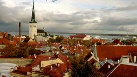 Paisagem de Tallinn Fotos de Stock Royalty Free