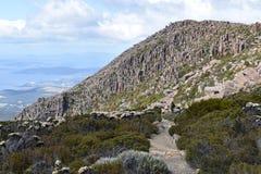 Paisagem de Tasmânia na montagem Wellington Walk em Hobart fotos de stock royalty free